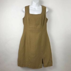 Giesswein Sheath Dress Brown Linen Purse Set 38 M